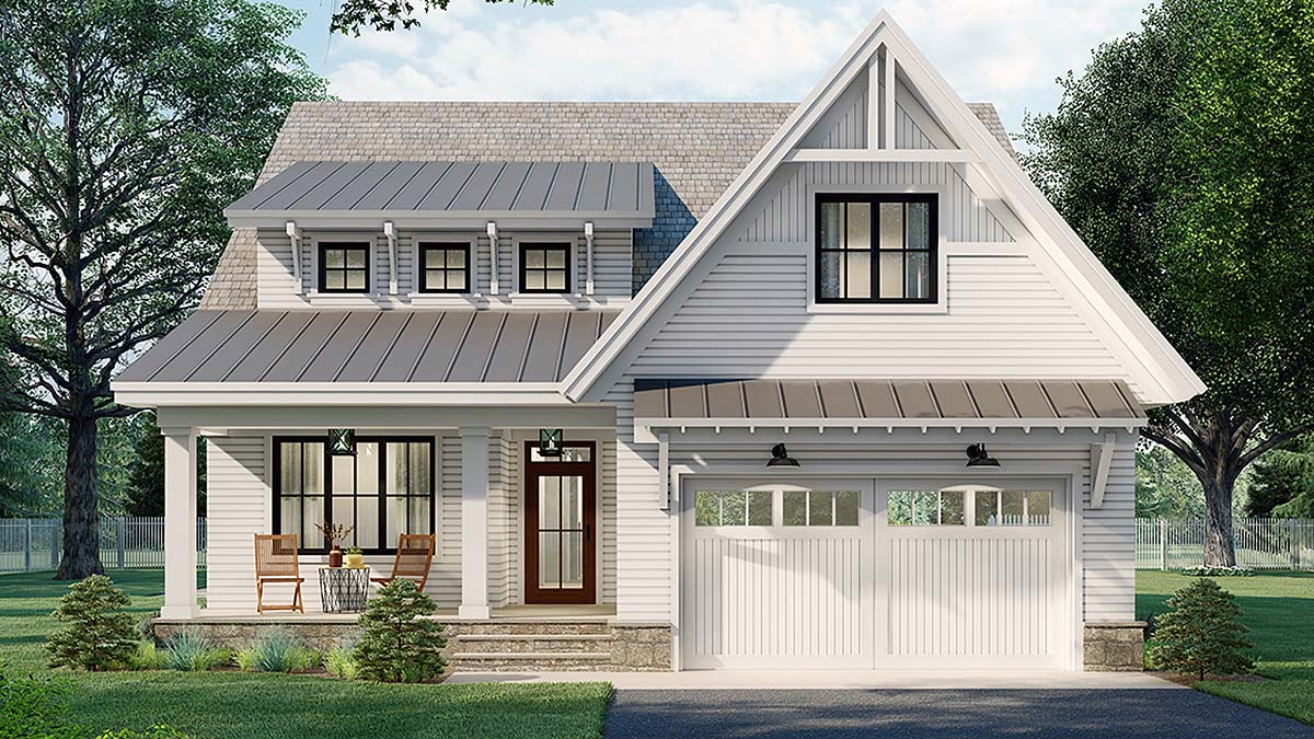 Farmhouse House Plan 41904 with 4 Beds, 4 Baths, 2 Car Garage Elevation