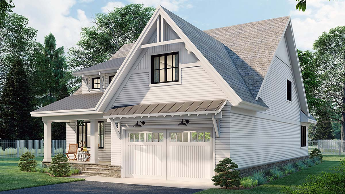 Farmhouse House Plan 41904 with 4 Beds, 4 Baths, 2 Car Garage Picture 1