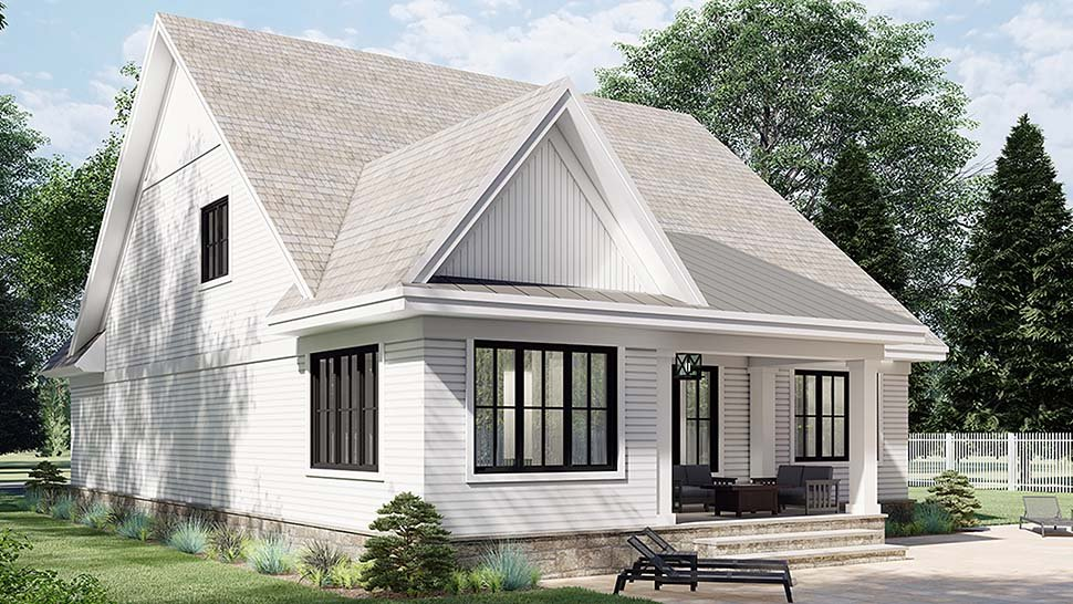 Farmhouse House Plan 41904 with 4 Beds, 4 Baths, 2 Car Garage Picture 3