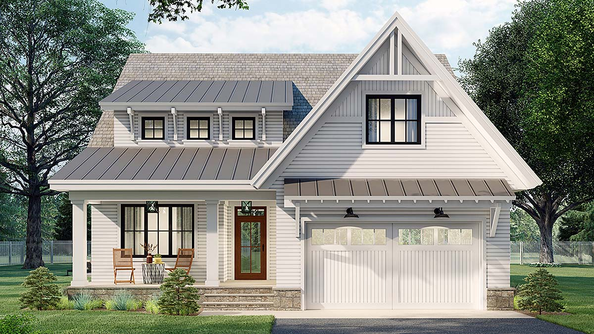Farmhouse House Plan 41905 with 3 Beds, 3 Baths, 2 Car Garage Elevation