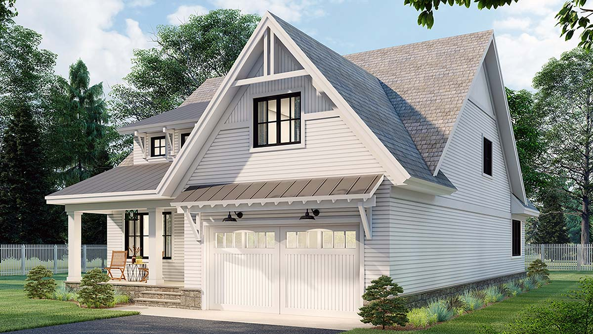 Farmhouse House Plan 41905 with 3 Beds, 3 Baths, 2 Car Garage Picture 1