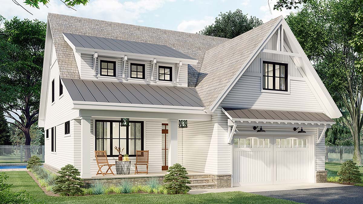 Farmhouse House Plan 41905 with 3 Beds, 3 Baths, 2 Car Garage Picture 2
