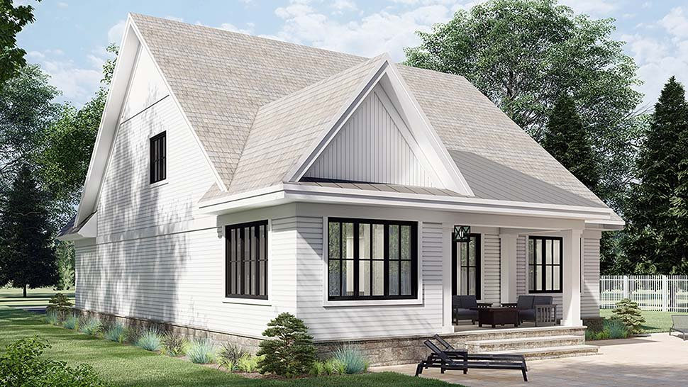 Farmhouse House Plan 41905 with 3 Beds, 3 Baths, 2 Car Garage Picture 3