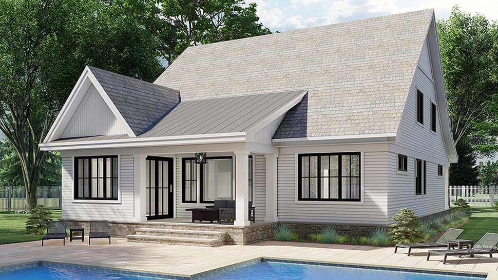 Farmhouse House Plan 41905 with 3 Beds, 3 Baths, 2 Car Garage Picture 4