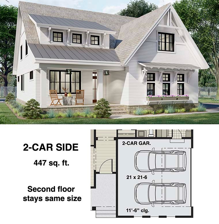 Farmhouse House Plan 41905 with 3 Beds, 3 Baths, 2 Car Garage Picture 5