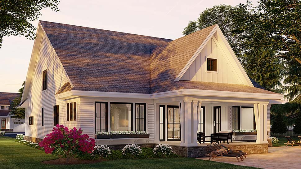 Farmhouse House Plan 41907 with 4 Beds, 4 Baths, 2 Car Garage Picture 3