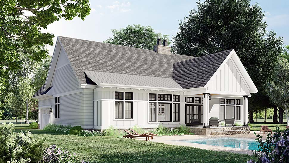 Farmhouse House Plan 41909 with 3 Beds, 2 Baths, 2 Car Garage Picture 3