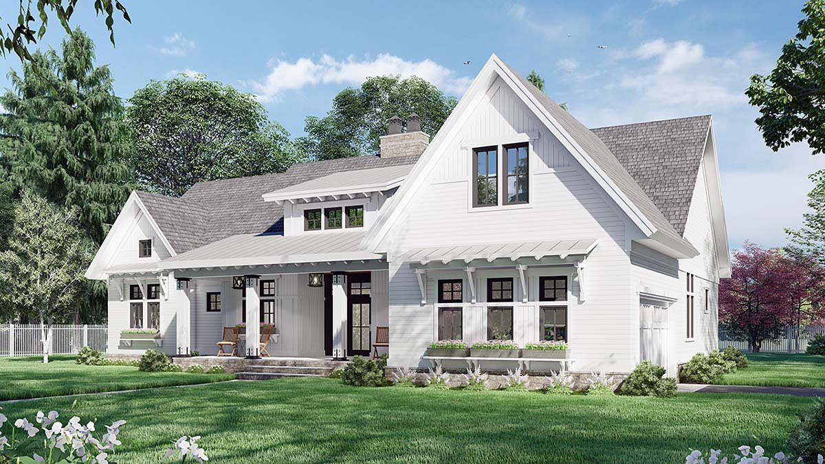 Farmhouse House Plan 41910 with 3 Beds, 3 Baths, 2 Car Garage Picture 1