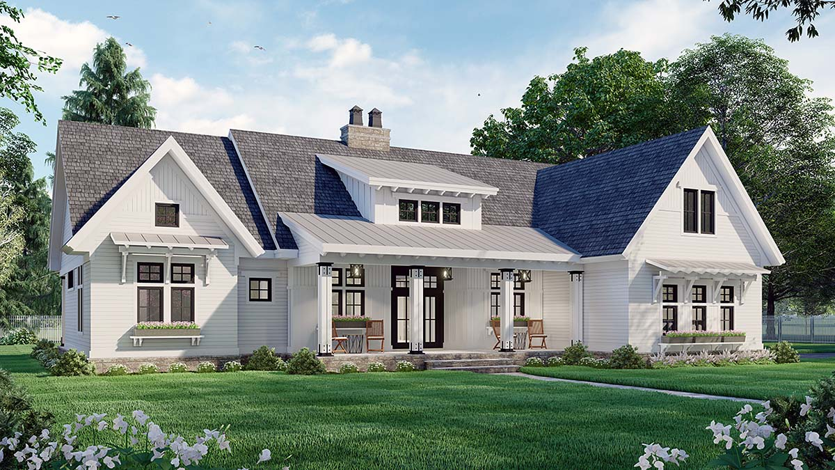 Farmhouse House Plan 41910 with 3 Beds, 3 Baths, 2 Car Garage Picture 2