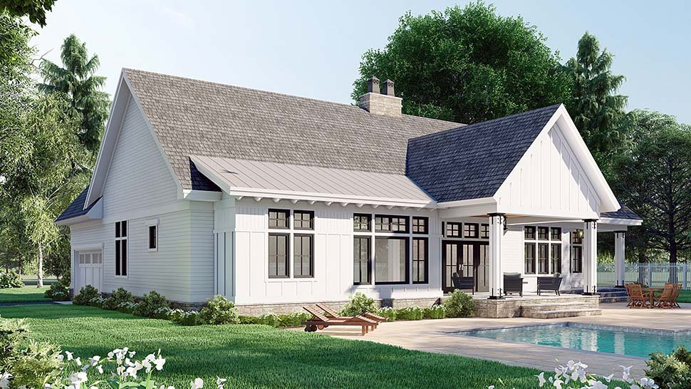 Farmhouse House Plan 41910 with 3 Beds, 3 Baths, 2 Car Garage Picture 3