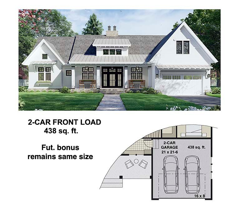 Farmhouse House Plan 41910 with 3 Beds, 3 Baths, 2 Car Garage Picture 5