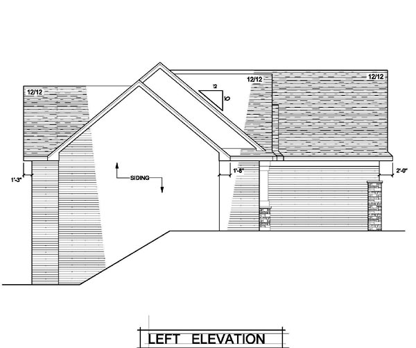 Craftsman, One-Story, Traditional, Tudor House Plan 42101 with 3 Beds, 2 Baths, 3 Car Garage Picture 1