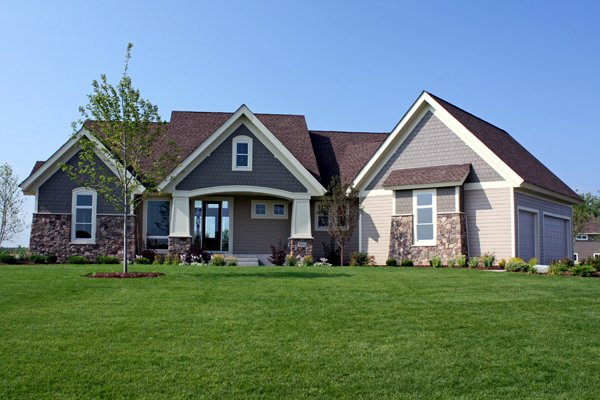 Craftsman, Traditional House Plan 42498 with 4 Beds, 4 Baths, 3 Car Garage Elevation
