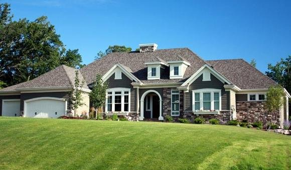 House Plan 42644 with 2 Beds, 3 Baths, 4 Car Garage Elevation