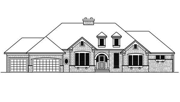 House Plan 42644 with 2 Beds, 3 Baths, 4 Car Garage Picture 1