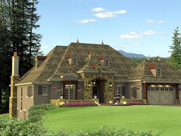 House Plan 42645 with 2 Beds, 3 Baths, 3 Car Garage Elevation