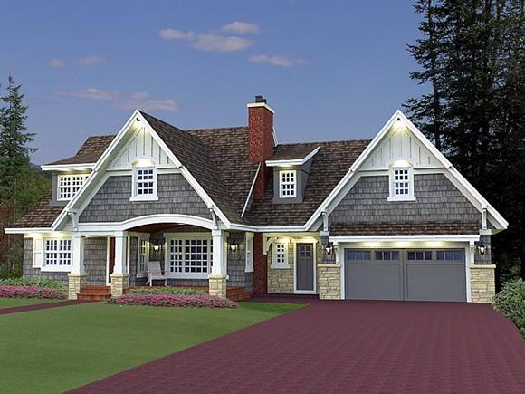 Cottage, Craftsman, French Country House Plan 42646 with 5 Beds, 4 Baths, 2 Car Garage Elevation