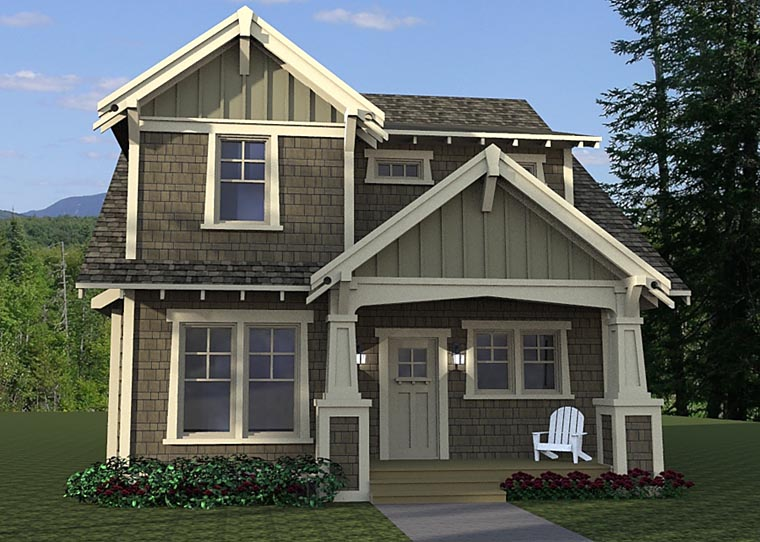 Cottage, Craftsman, Traditional House Plan 42673 with 3 Beds, 3 Baths Elevation