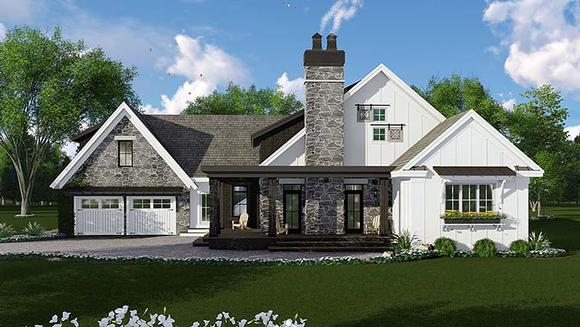 Bungalow, Cottage, Country, Craftsman, Farmhouse, Traditional House Plan 42685 with 3 Beds, 3 Baths, 2 Car Garage Elevation