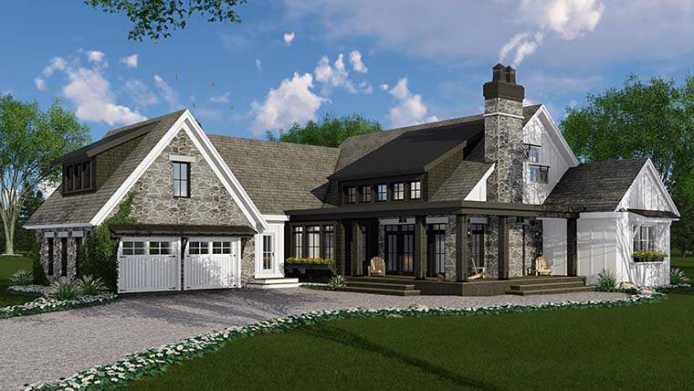 Bungalow, Cottage, Country, Craftsman, Farmhouse, Traditional House Plan 42685 with 3 Beds, 3 Baths, 2 Car Garage Picture 1