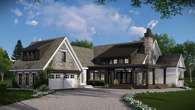 Bungalow, Cottage, Country, Craftsman, Farmhouse, Traditional House Plan 42685 with 3 Beds, 3 Baths, 2 Car Garage Picture 2