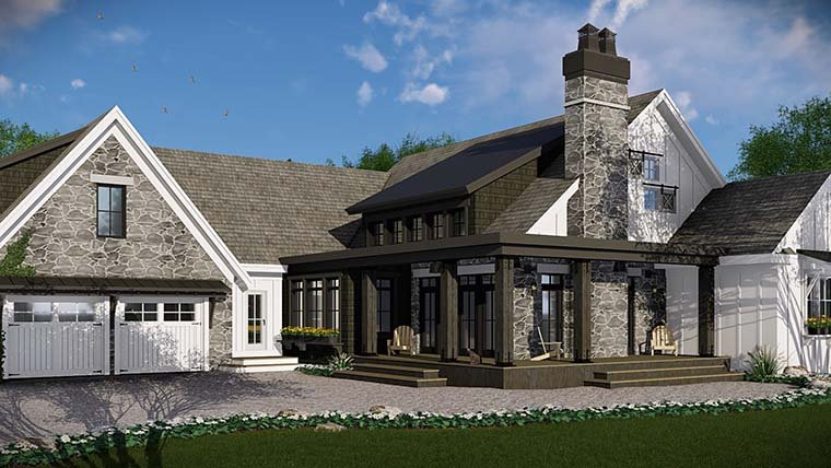 Bungalow, Cottage, Country, Craftsman, Farmhouse, Traditional House Plan 42685 with 3 Beds, 3 Baths, 2 Car Garage Picture 3