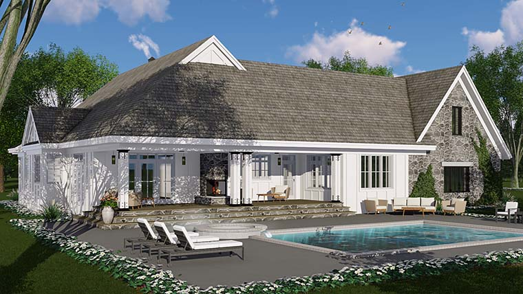 Bungalow, Cottage, Country, Craftsman, Farmhouse, Traditional House Plan 42685 with 3 Beds, 3 Baths, 2 Car Garage Picture 4
