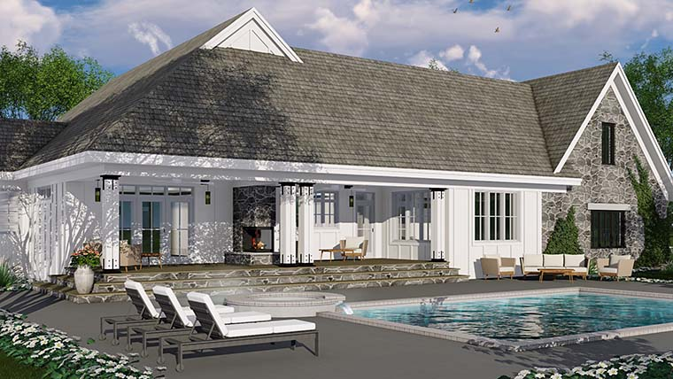Bungalow, Cottage, Country, Craftsman, Farmhouse, Traditional House Plan 42685 with 3 Beds, 3 Baths, 2 Car Garage Picture 5