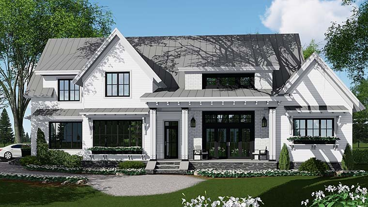 Country, Farmhouse, Southern, Traditional House Plan 42687 with 4 Beds, 5 Baths, 3 Car Garage Picture 1