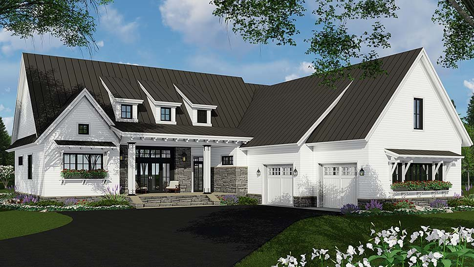 Bungalow, Cottage, Craftsman, Ranch House Plan 42689 with 3 Beds, 3 Baths, 2 Car Garage Elevation