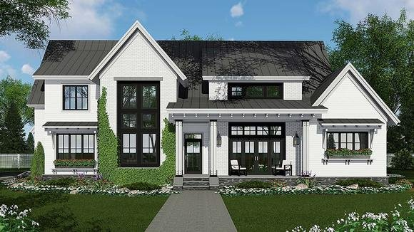 Country, Farmhouse, Traditional House Plan 42690 with 4 Beds, 3 Baths, 2 Car Garage Elevation