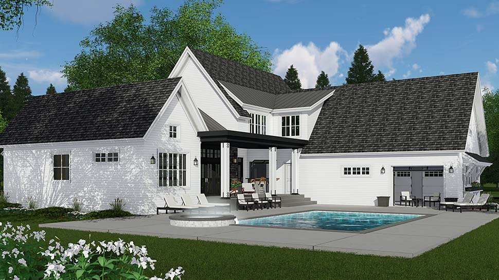 Country, Farmhouse House Plan 42693 with 4 Beds, 4 Baths, 3 Car Garage Picture 1