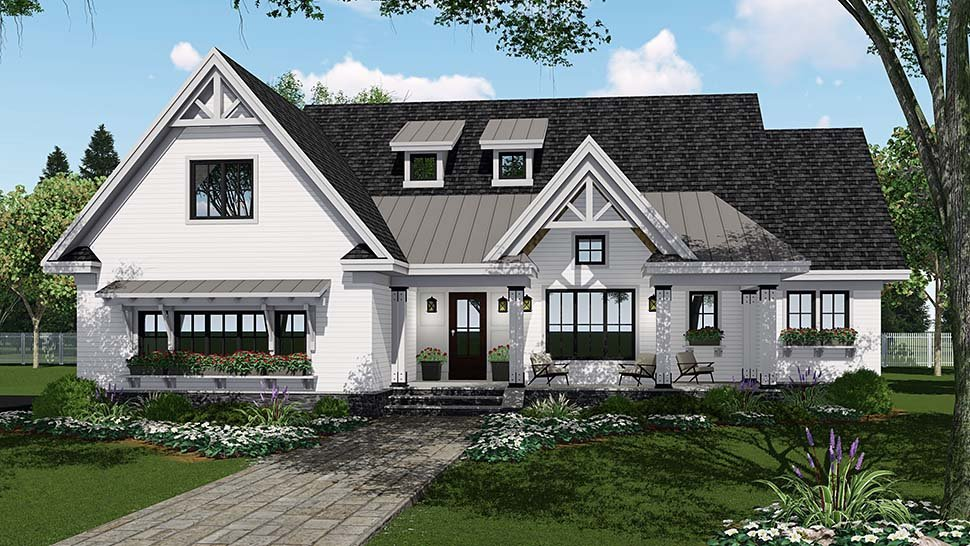Bungalow, Country, Craftsman, Farmhouse, Traditional House Plan 42694 with 4 Beds, 4 Baths, 2 Car Garage Picture 3