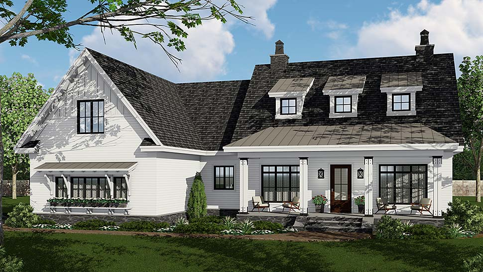 Country, Craftsman, Farmhouse, Traditional House Plan 42695 with 3 Beds, 3 Baths, 2 Car Garage Elevation