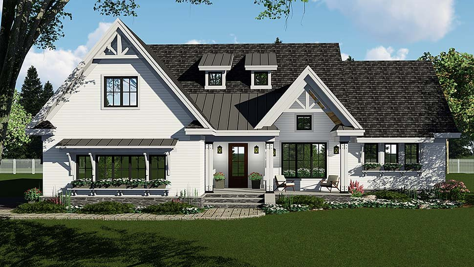 Country, Craftsman, Farmhouse, Southern House Plan 42696 with 3 Beds, 3 Baths, 2 Car Garage Elevation
