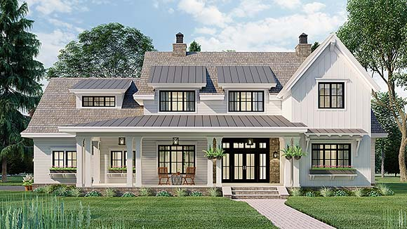 Country House Plan 42699 with 4 Beds, 4 Baths, 2 Car Garage Elevation