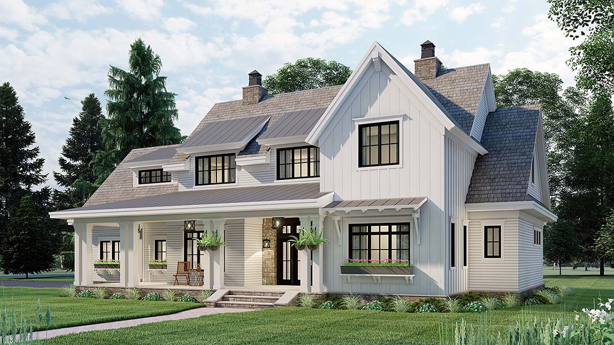 Country House Plan 42699 with 4 Beds, 4 Baths, 2 Car Garage Picture 1