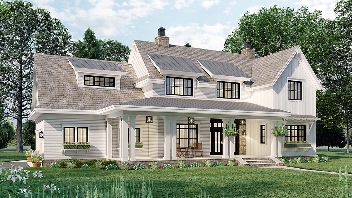 Country House Plan 42699 with 4 Beds, 4 Baths, 2 Car Garage Picture 2