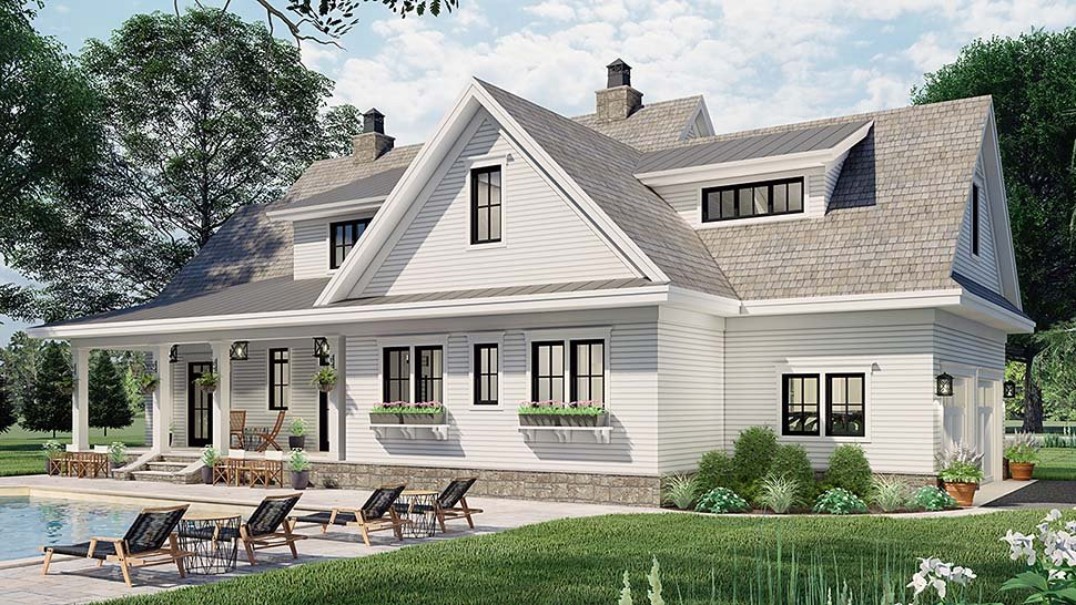 Country House Plan 42699 with 4 Beds, 4 Baths, 2 Car Garage Picture 3