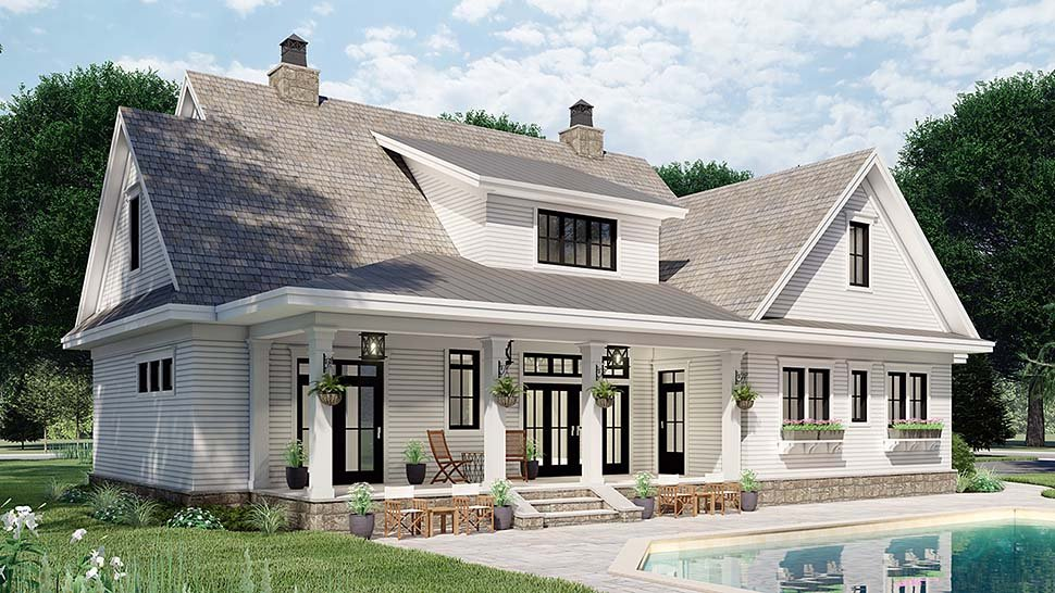 Country House Plan 42699 with 4 Beds, 4 Baths, 2 Car Garage Picture 4