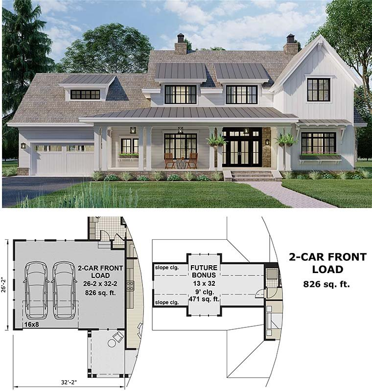 Country House Plan 42699 with 4 Beds, 4 Baths, 2 Car Garage Picture 5
