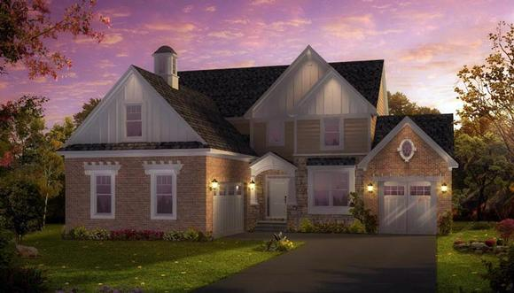 Colonial, Greek Revival, Traditional House Plan 42812 with 3 Beds, 4 Baths, 3 Car Garage Elevation