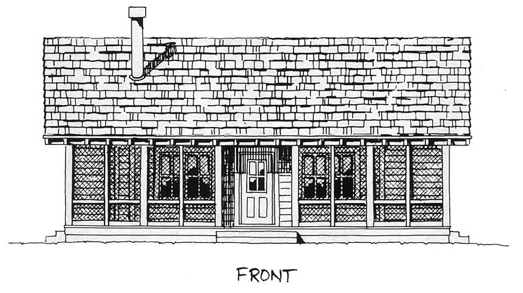 Cabin, Cottage House Plan 43203 with 2 Beds, 2 Baths Picture 2