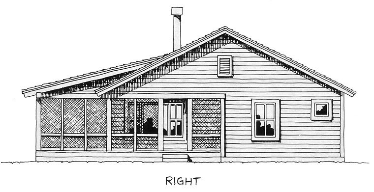 Cabin, Cottage House Plan 43203 with 2 Beds, 2 Baths Picture 4
