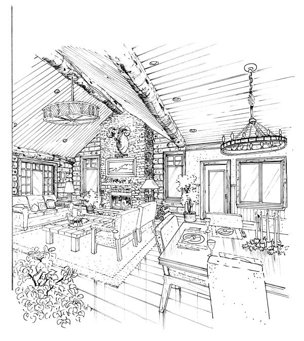 Cabin, Cape Cod, Country House Plan 43206 with 3 Beds, 3 Baths Picture 1