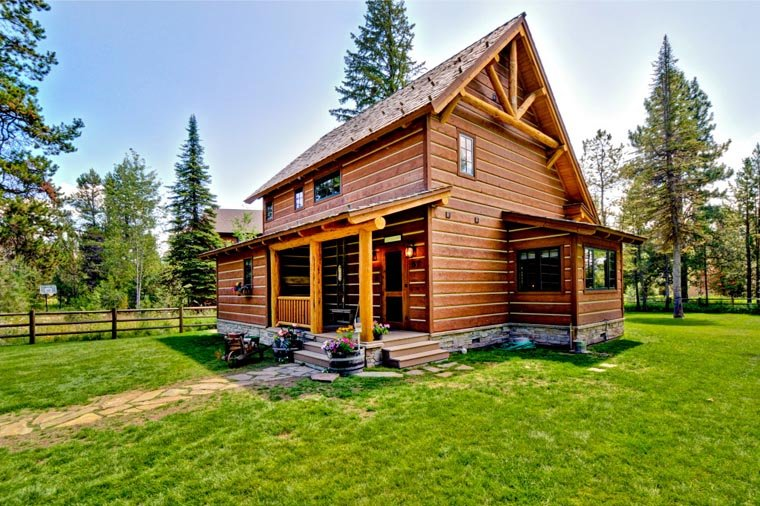 Cabin, Craftsman, Log House Plan 43212 with 2 Beds, 2 Baths Picture 9