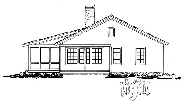 Cabin, Country, Ranch, Southern House Plan 43227 with 2 Beds, 2 Baths Picture 2