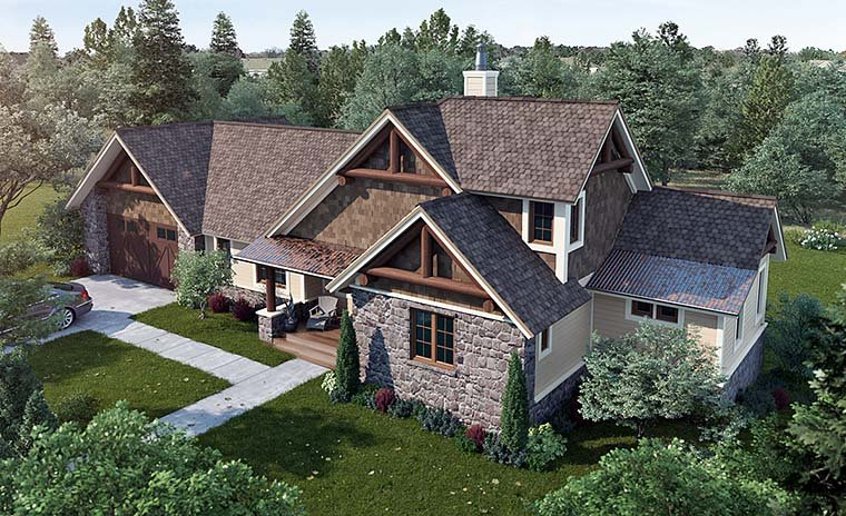 Bungalow, Cottage, Country, Craftsman House Plan 43235 with 3 Beds, 3 Baths Elevation