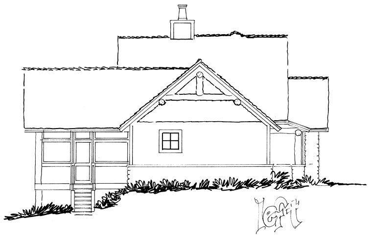 Bungalow, Cottage, Country, Craftsman House Plan 43235 with 3 Beds, 3 Baths Picture 2