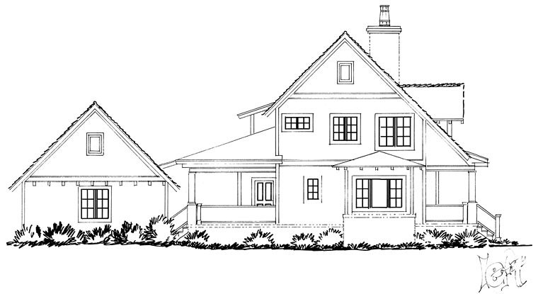 Country, Farmhouse, Southern House Plan 43237 with 4 Beds, 4 Baths, 2 Car Garage Picture 2